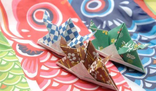 リトミック製作活動・あまった折り紙でもうひと遊び!